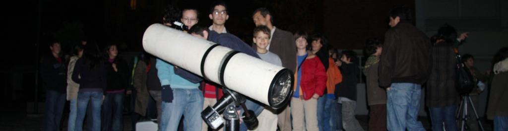 observação noturna ( telescópio de 206 mm )