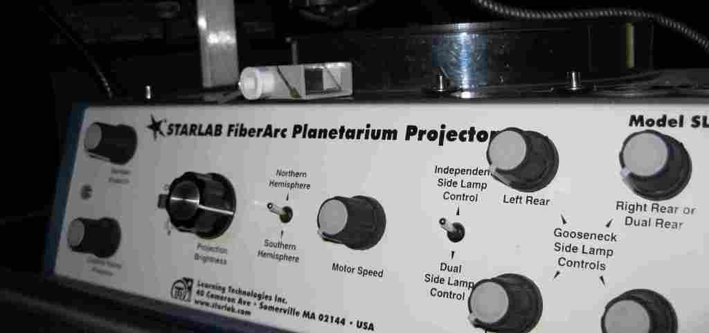 projetor starlab fiber-arc  - painel de controlo
